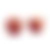X50 perles en bois motifs ethniques rondes 16mm