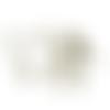 X50 clous tiges à œil métal bronze 0.7x5cm