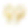X10 fermoirs mousqueton métal doré 7x14mm