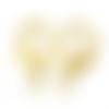 X10 fermoirs mousqueton métal doré 12x21mm