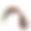 Collier cordon ciré à fermoir mousqueton 45cm rose