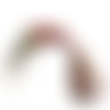Collier cordon ciré à fermoir mousqueton 45cm fuchsia