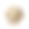 X5 perles en bois naturel forme polygone à facettes 20mm