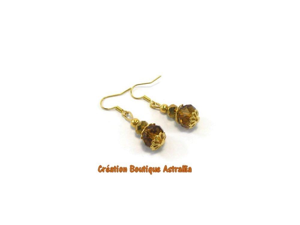 Boucles d'oreilles en perles de verre facetté