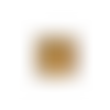 Bolduc / ruban cadeau - or / doré aspect métal mat x 10 m