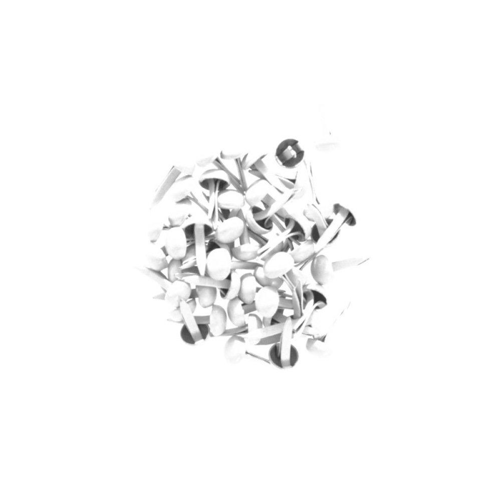 50 Attaches parisiennes / Brads coloris Blanc - 4 mm - KESI'ART