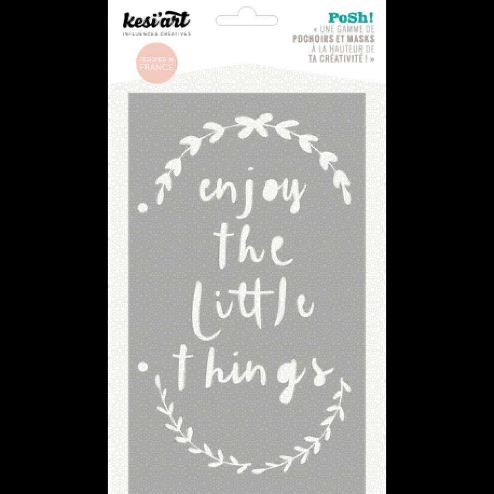 POCHOIR - Enjoy the little things - Couronnes de feuilles - Posh ! - KESI'ART