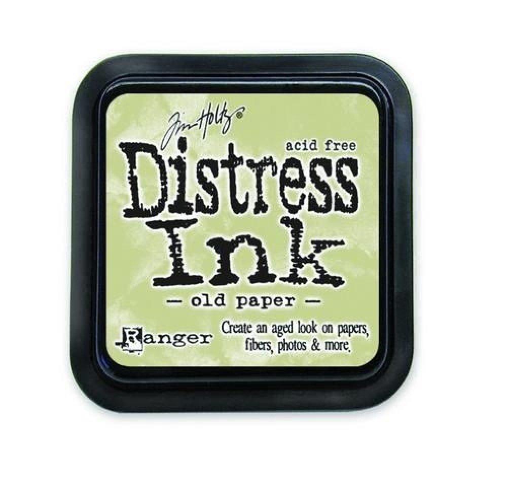 Encre pour tampon, Old paper, mixed media, Distress, beige, encreur, scrapbooking, vintage, vieillir, papier, petit, 3x3cm
