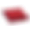 1 boite cadeau bijou en carton - rouge - 6 x 4,5 x 2,8 cm