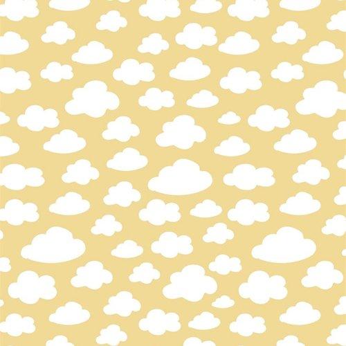De coton nuages Jaune Blanc