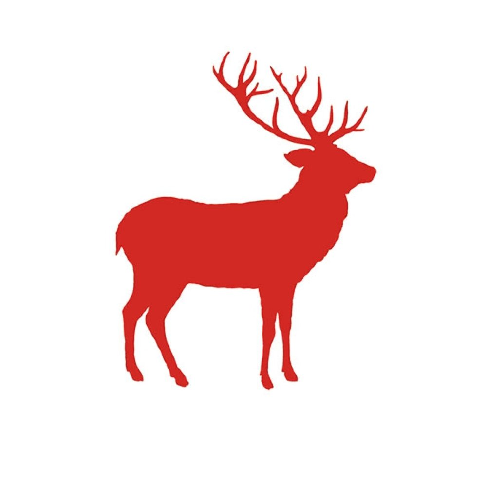 Serviette papier animaux, 33x33 cm, cerf, renne, rouge, blanc, forêt, Noël, scandinave, nordique, serviettage, collage, collection, x1