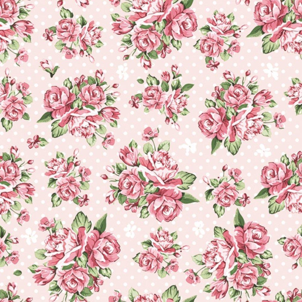 Serviette en papier, 33x33 cm, bouquet, rose, fleur, pois, romantique, shabby, serviettage, collage, collection, x1