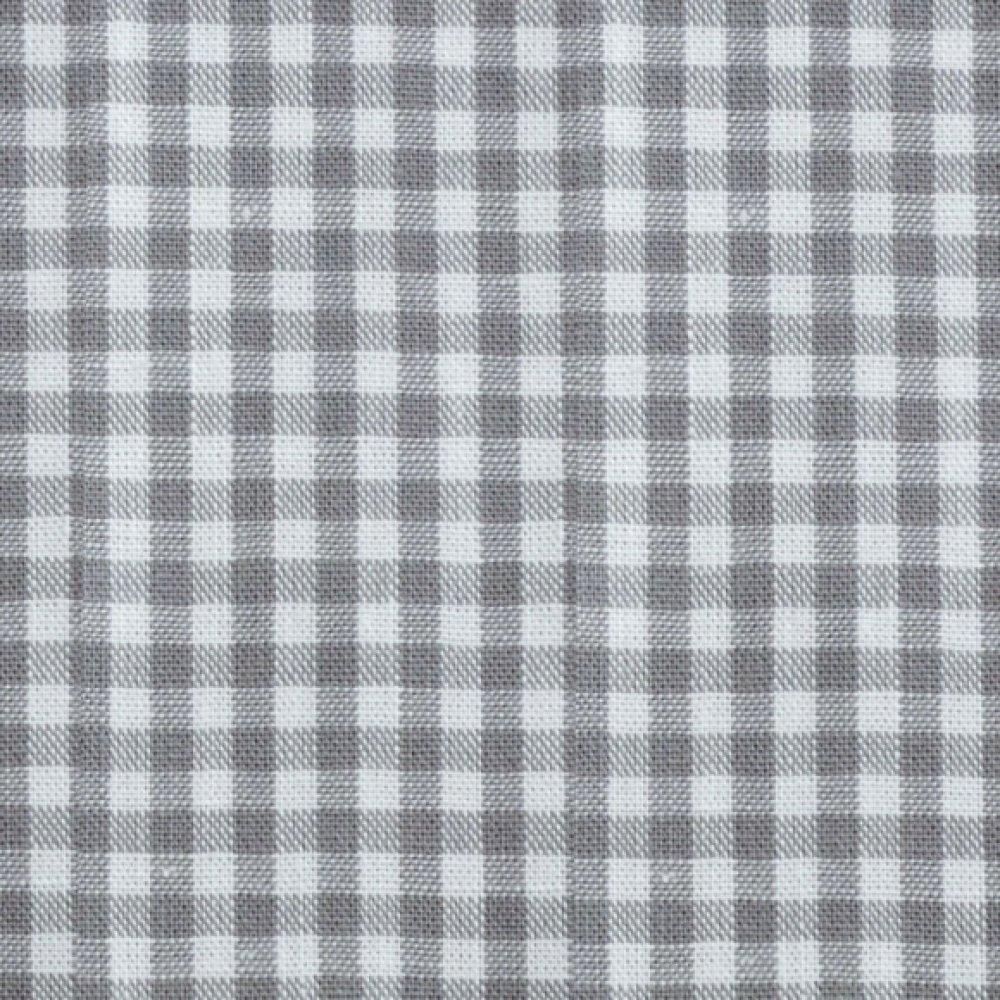 Coupon tissu coton - vichy gris et blanc - 45 x 50 cm