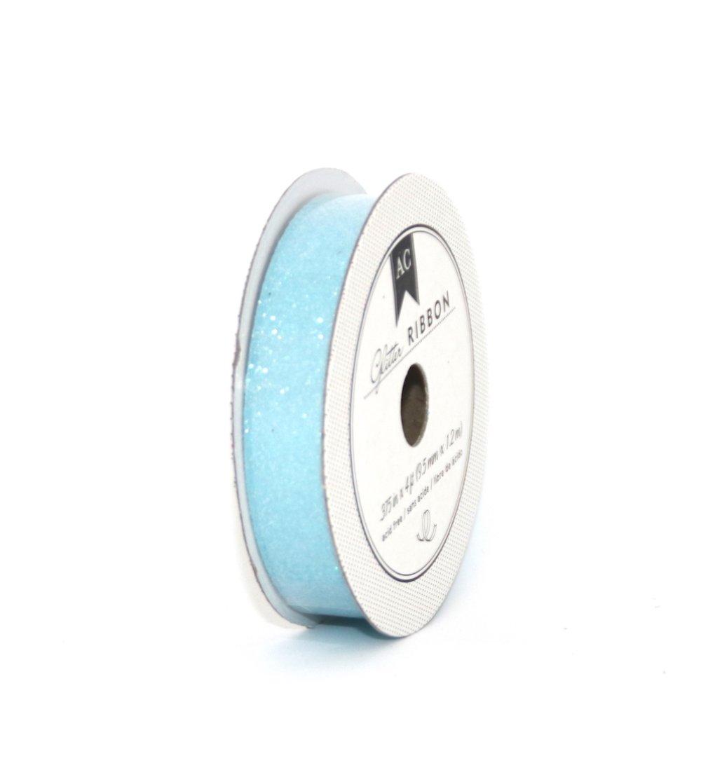 Ruban pailleté épais - bleu clair - American Crafts - 1,2 m