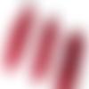 Lot 5 plumes avec embout métal - couleur rouge - 65/75 mm