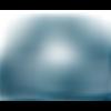 Lot 50 perles en verre à facettes - bleu pétrole - 3 x 2 mm
