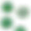 10 cabochons ronds nacrés - vert foncé - 8 mm