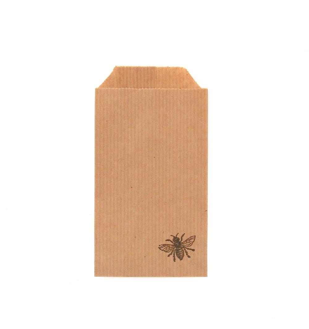 """10 Petites pochettes-cadeaux / Sachets kraft """"Abeille"""""""