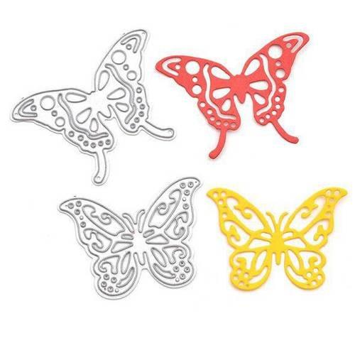2 die motif papillon ,matrice de découpe métal scrapbooking