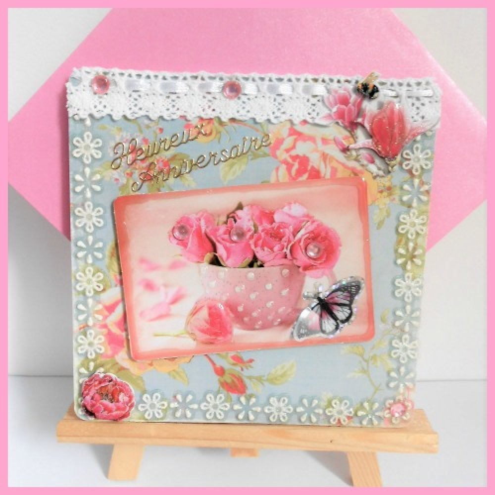 Carte Anniversaire Femme Bouquet De Roses