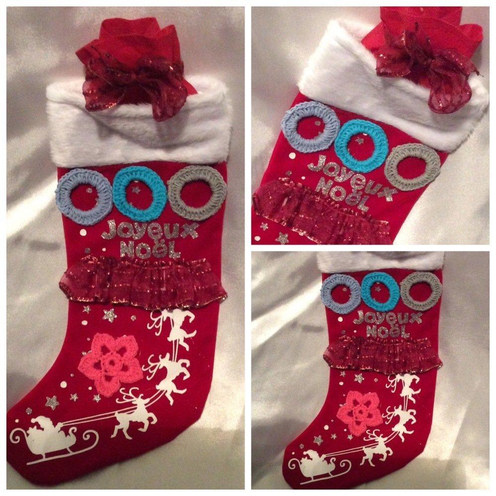 Cadeau -sac  botte de  Noël