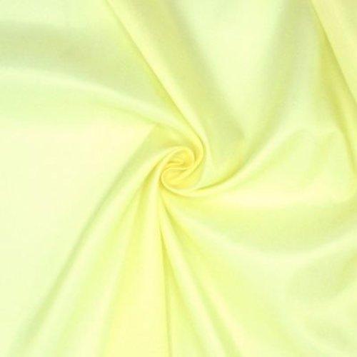 Doublure - tissu habillement - 100% polyester - jaune pâle - largeur 1m40