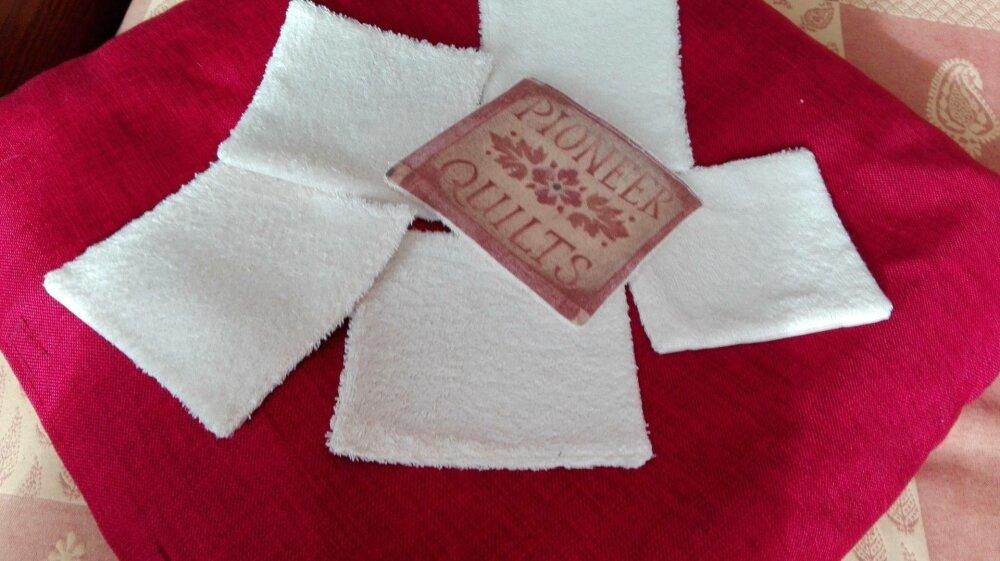 lot de 6  grandes lingettes réutilisables  ou essuie-tout en coton