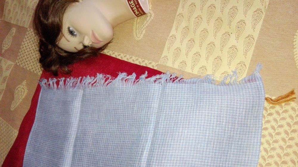 Echarpe  pour homme ou femme  en voile de lin
