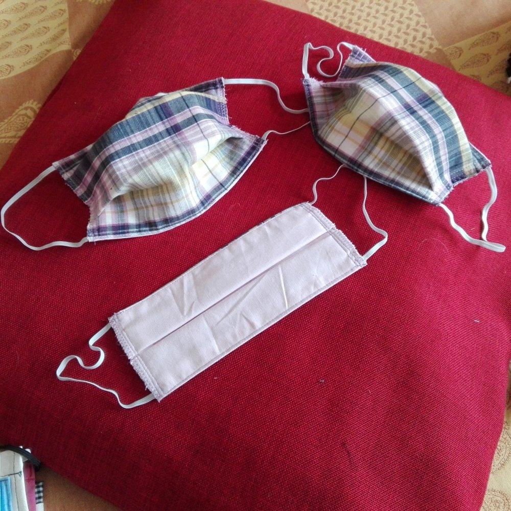 Masque de protection  3 épaisseurs en  coton  lavable  pour tous.