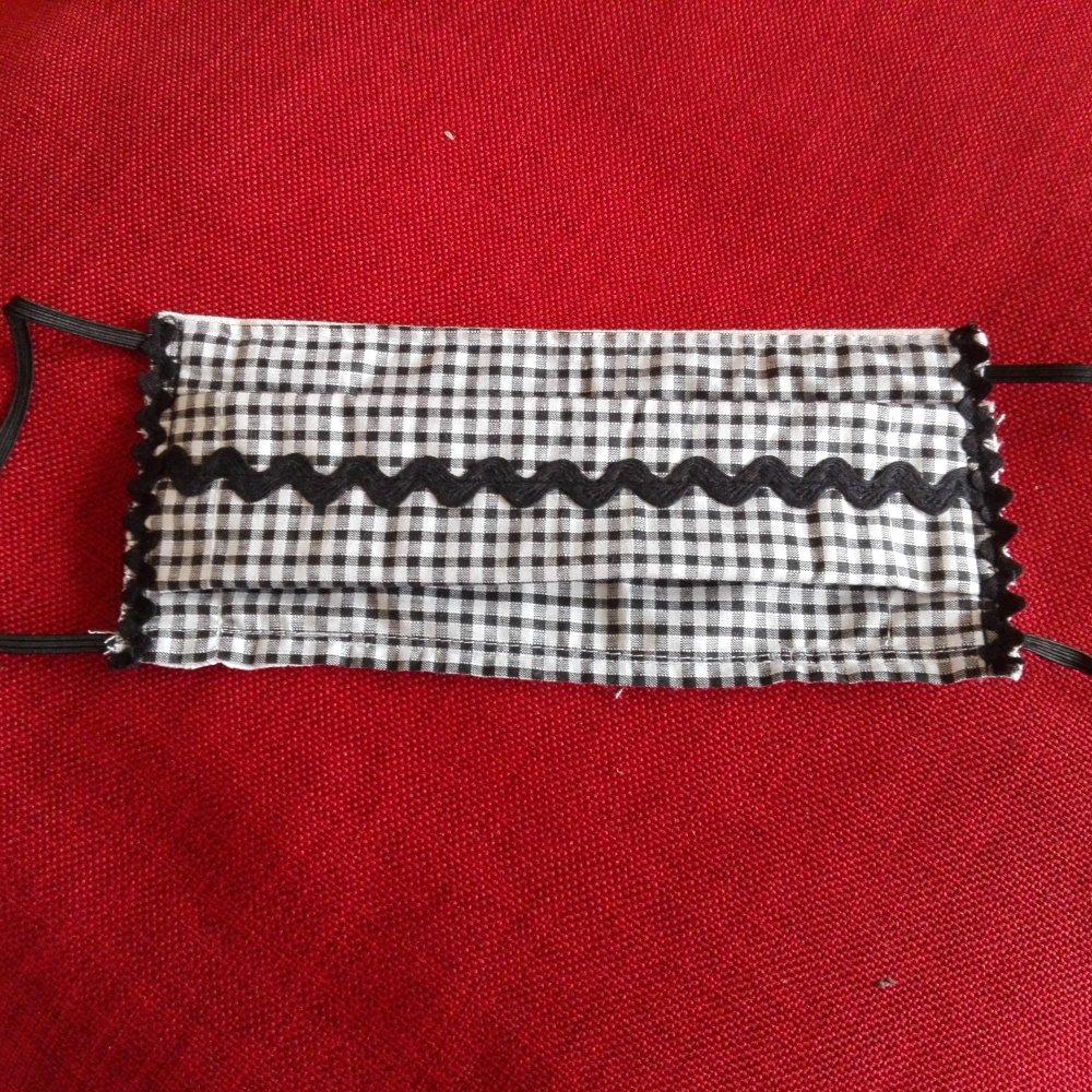 masque durable  plat à plis en pur coton  pour adulte grande taille