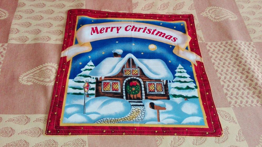 """Set de table ou serviette de table enfant motif """"merry christmas"""""""
