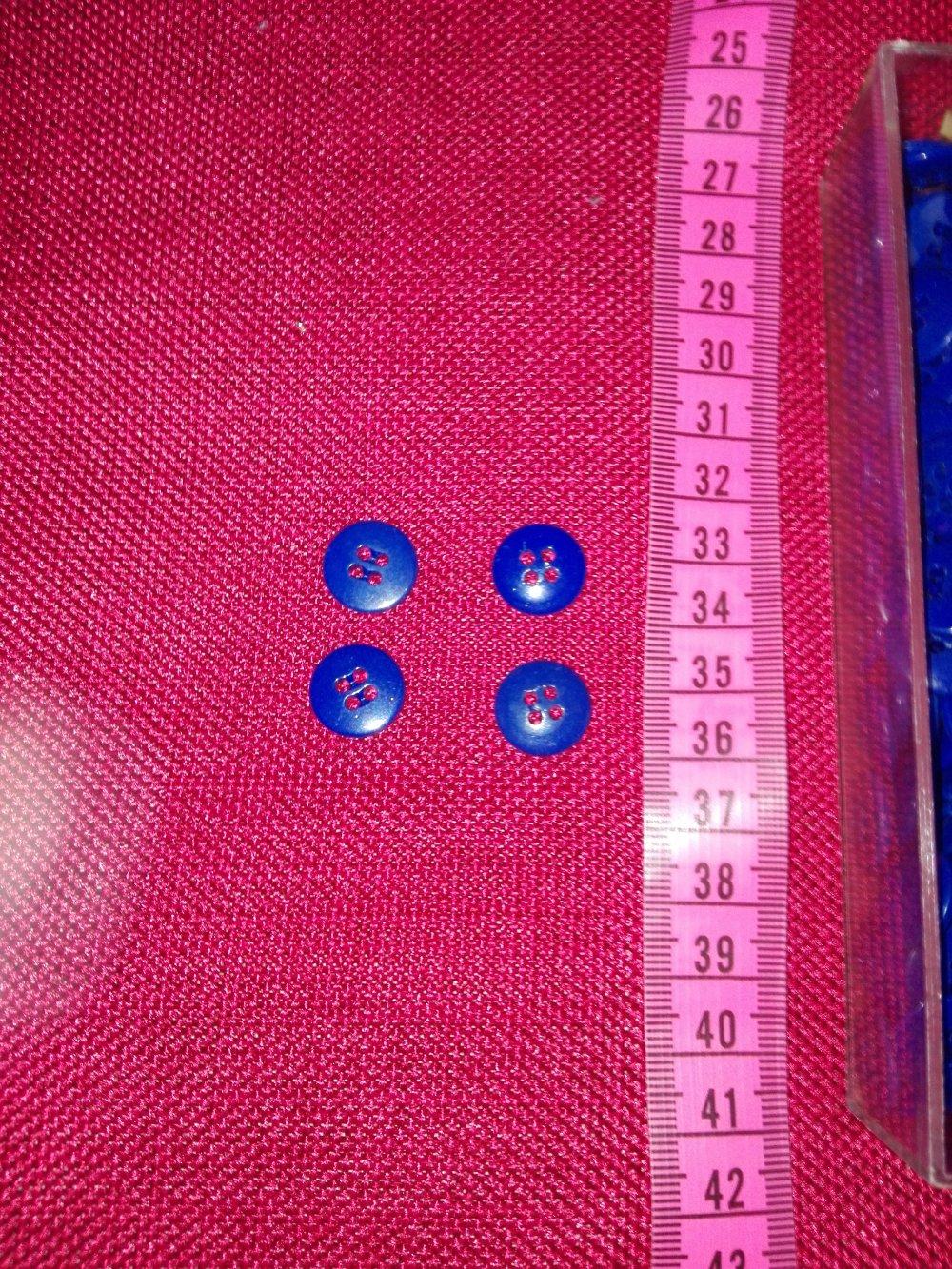 lot de 12 boutons plastique vintage