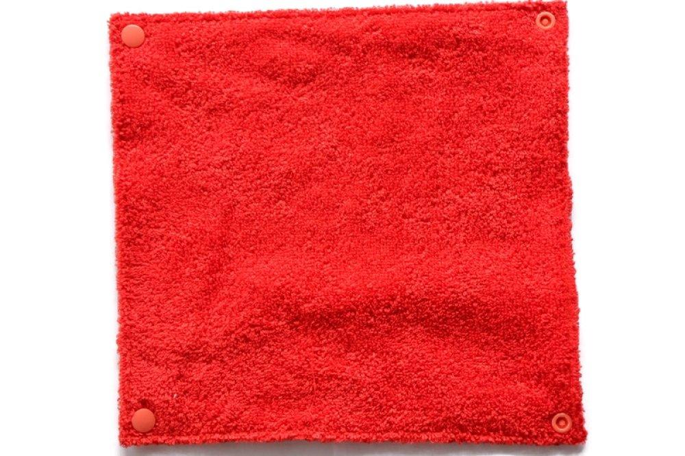 Rouleau de 12 feuilles d'essuie-tout lavable - écailles - de couleur orange et blanc