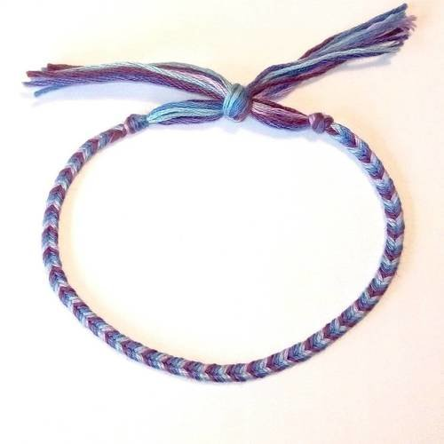 bracelet cheville tresse