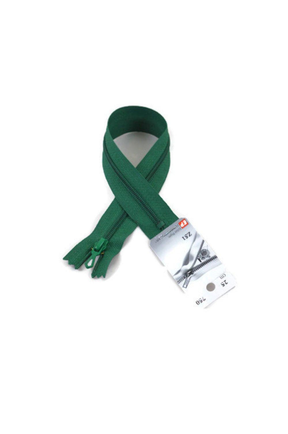 Fermeture éclair non séparable - 20 cm - vert