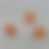 Dé perle intercalaire carré fantaisie orange  création bijoux jeu poker cas