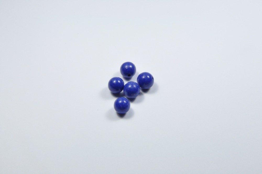 PE295 - Lot de 5 perles en lapis lazuli 8mm