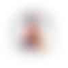 Cabochon en verre 25 mm - femme japon
