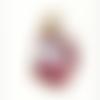 Breloque / pendentif tête de licorne émaillée