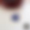 Breloque / pendentif coeur couleur or et bleu saphir pailleté