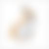 Breloque licorne émaillée blanche et jaune