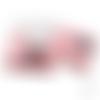 Sachet / pochette plastique - avec bande adhésive - décor chats - transparent  rose clair - lot de 10