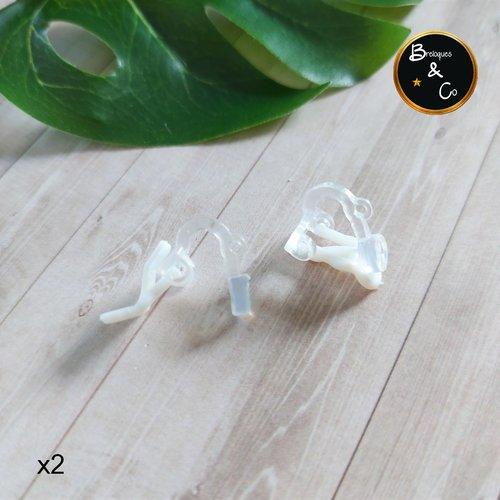 Boucles d'oreilles à clip avec boucle en plastique / oreille non percée