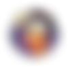 Cabochon en verre 25 mm - fille éventail japon