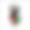 Pendentif hibou avec strass en verre à facettes multicolore
