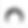 Grand pendentif style bohème - corne en résine avec strass