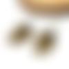 Boucles d'oreilles dormeuses noeud, perles noires par breloques et cie
