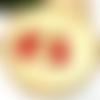 Boucles d'oreilles gouttes et pompon rouge par breloques et cie