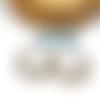 Boucles d'oreilles dormeueses gouttes perles bleues par breloques et cie