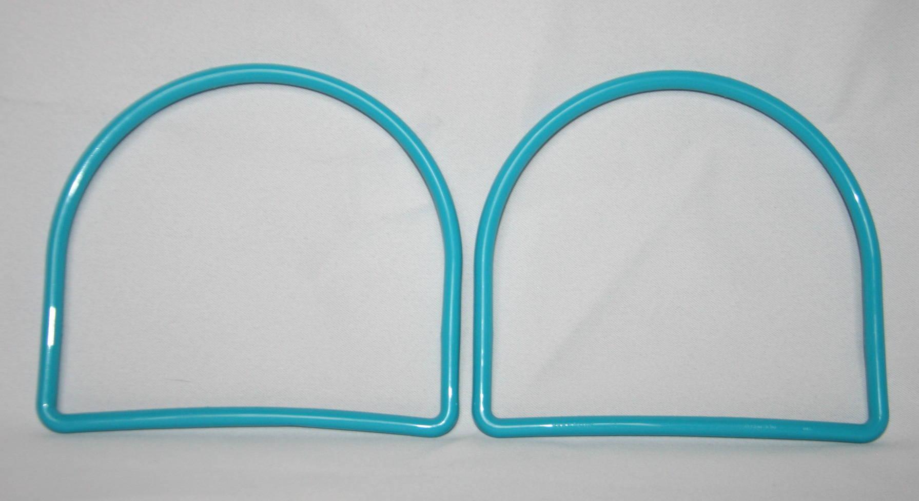 Poignées de sac arceau en plastique - Bleu turquoise